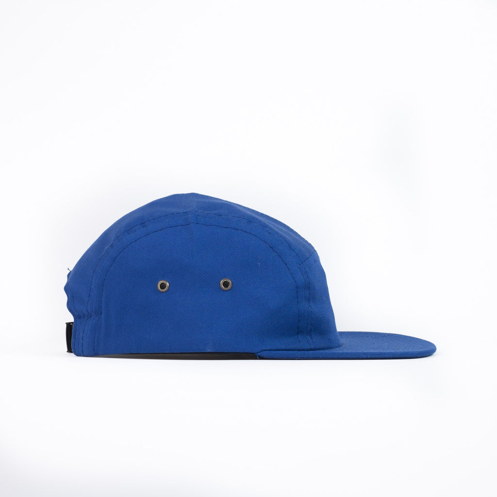 Royal Blue Cotton Twill Camp Cap