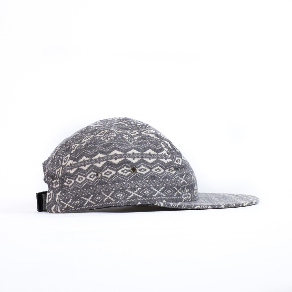 Grey Snowflake Kids Camp Cap