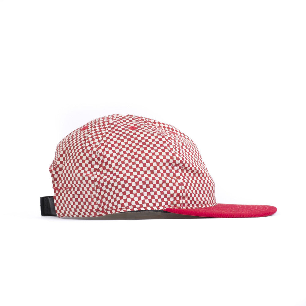 Red Checkerboard Ball Cap
