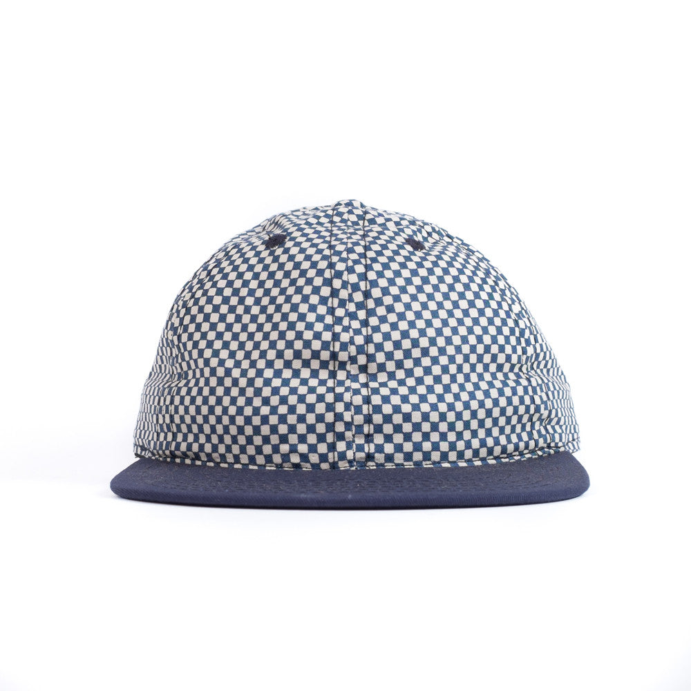 Blue Checkerboard Ball Cap