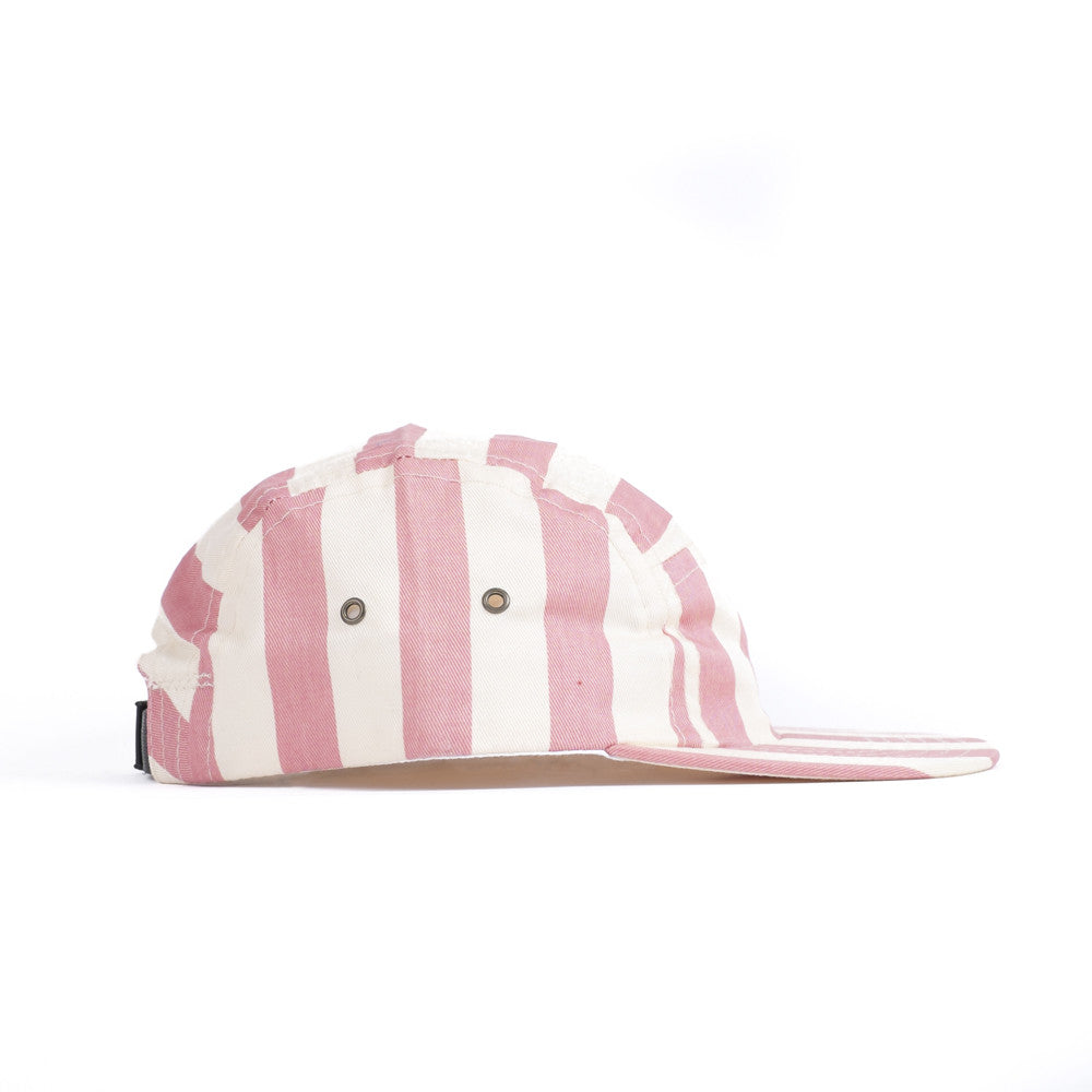Rose Beach Stripe Kids Camp Cap