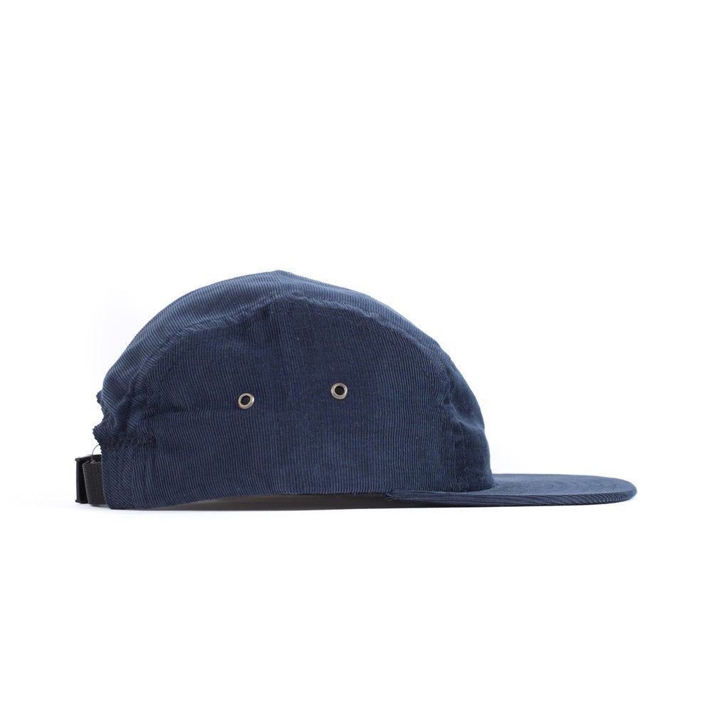 Blue Corduroy Camp Cap