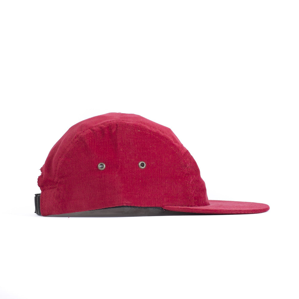 Red Corduroy Camp Cap