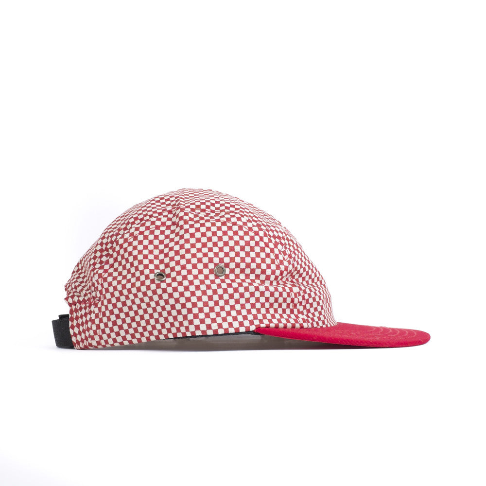 Red Checkerboard Camp Cap