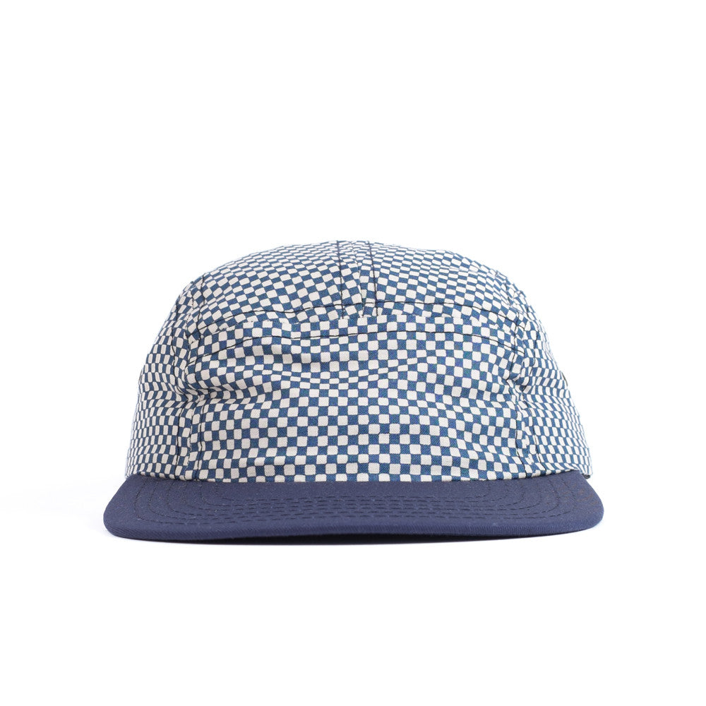 Blue Checkerboard Camp Cap