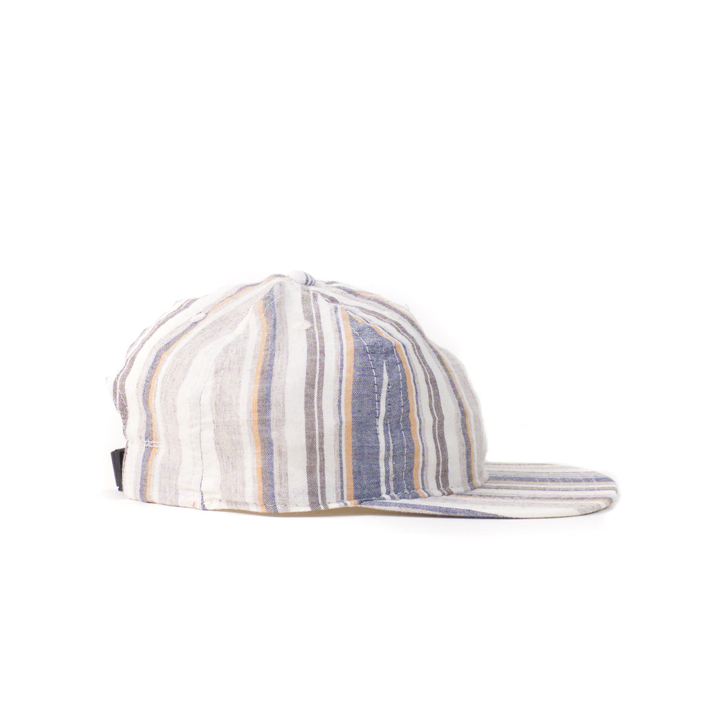 Beige Multi Stripe Ball Cap
