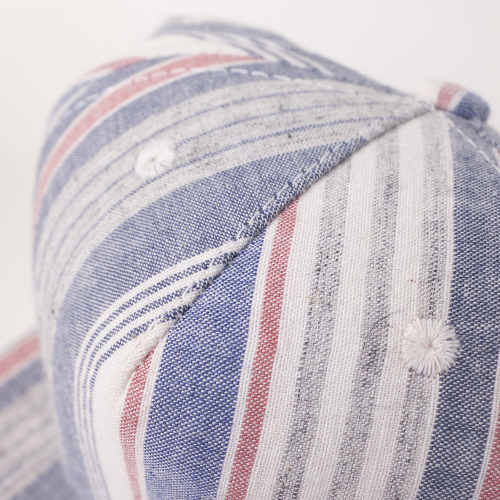Blue Multi Stripe Farm Cap