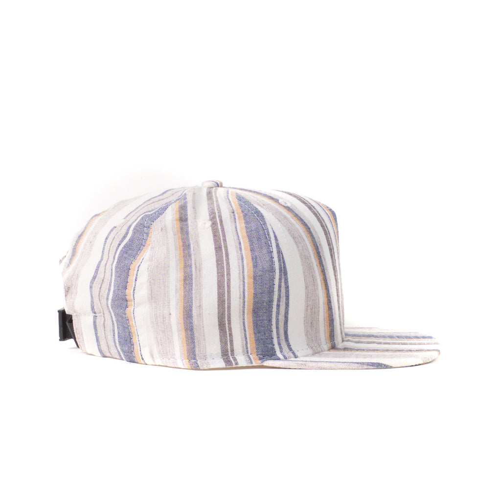 Beige Multi Stripe Farm Cap