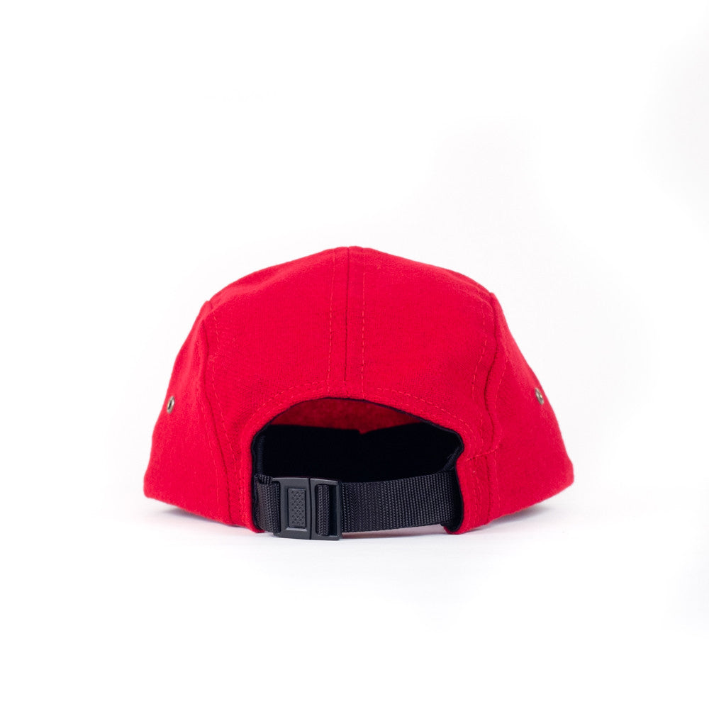 Red Flannel Camp Cap