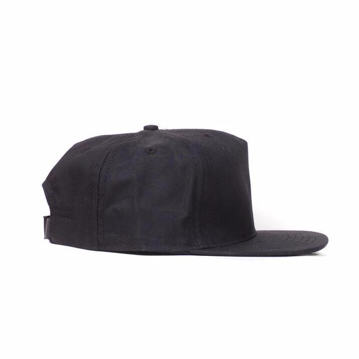 Black Waxed Cotton Farm Cap