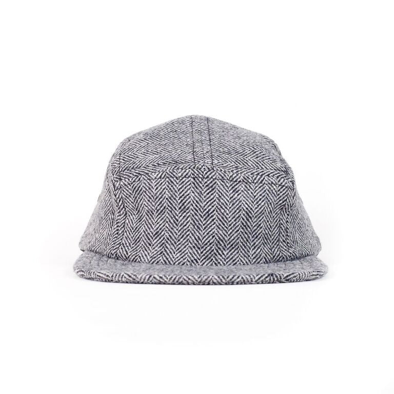 Herringbone Tweed Camp Cap