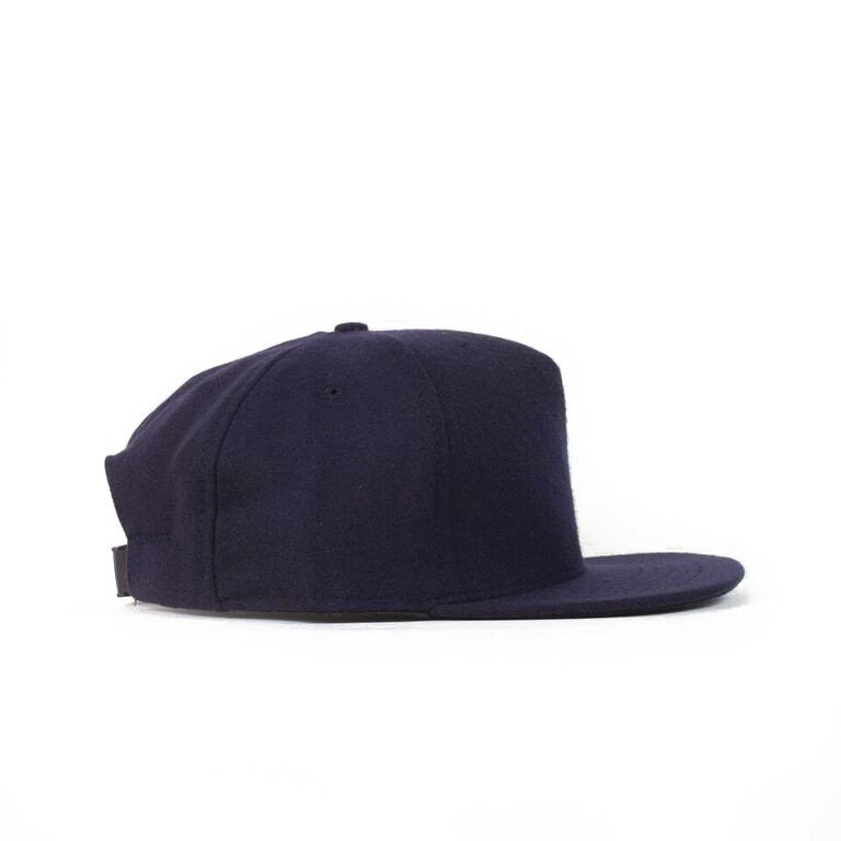 Navy Flannel Farm Cap