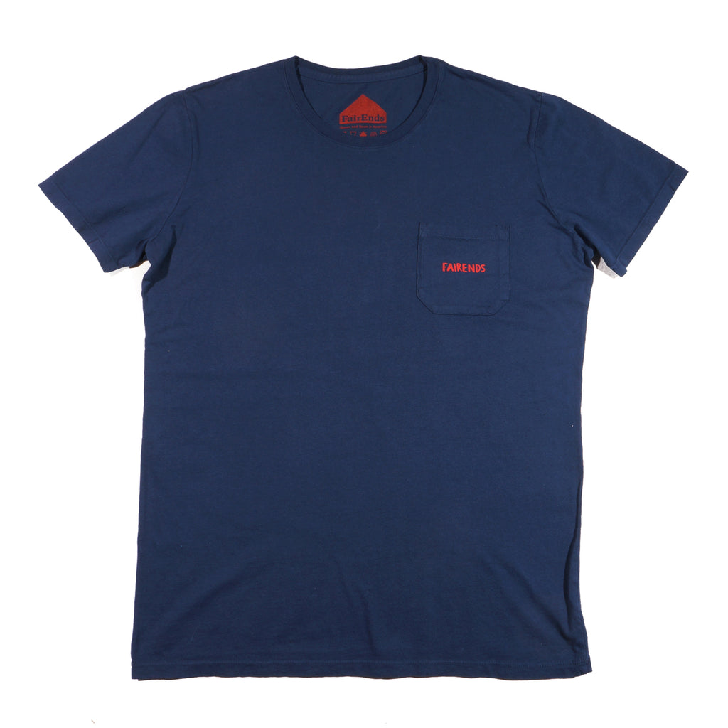 Navy Organic Cotton Logo Pocket T-Shirt