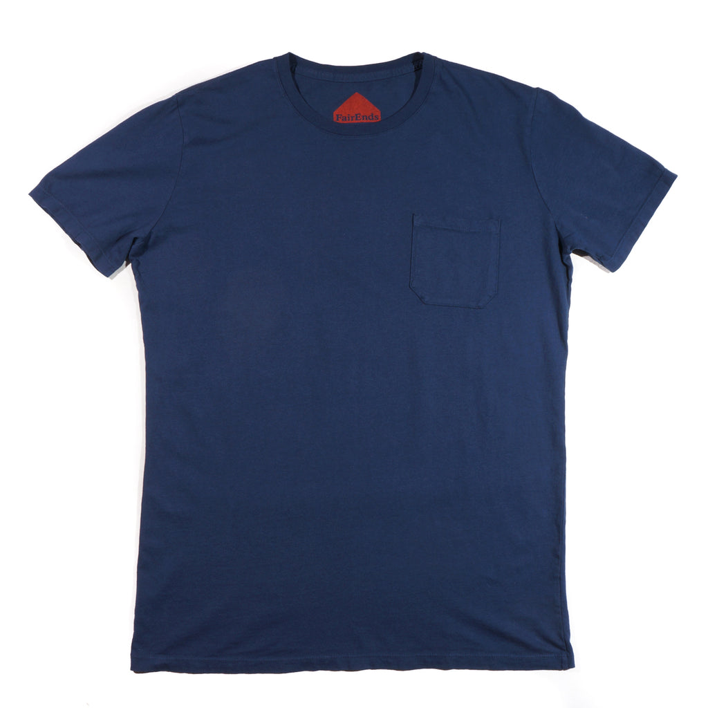 Navy Organic Cotton Pocket T-Shirt