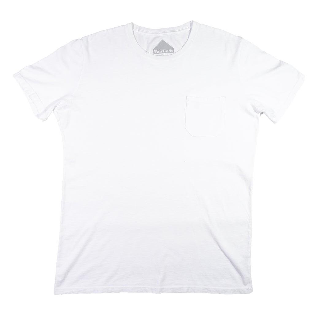 White Organic Cotton Pocket T-Shirt