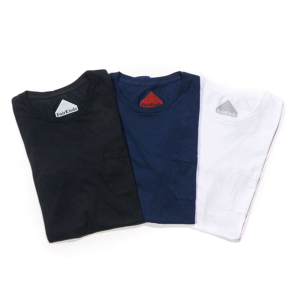 Bundle of 3 Organic Cotton Pocket T-Shirts