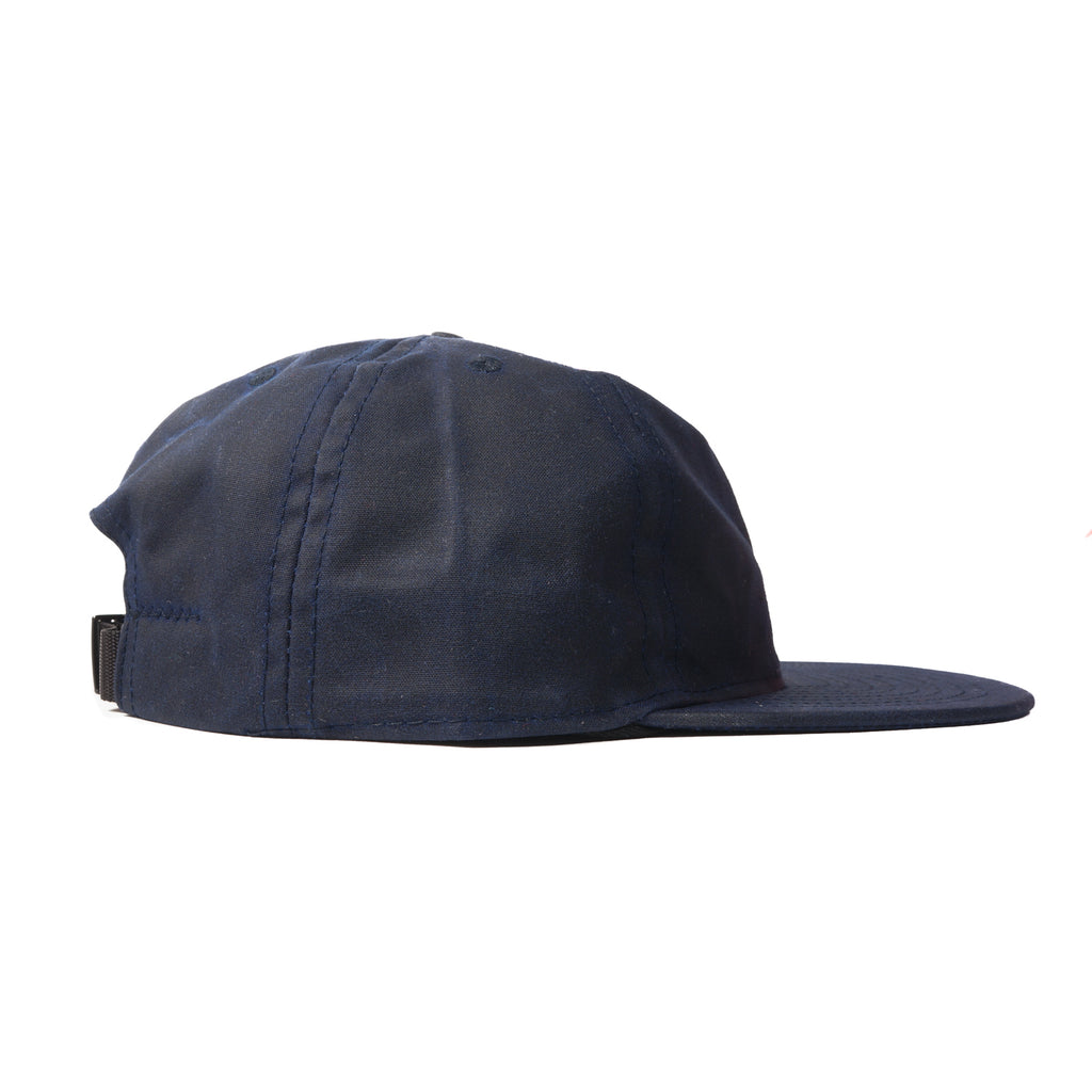 9f97b602f3457 Navy Waxed Cotton Ball Cap