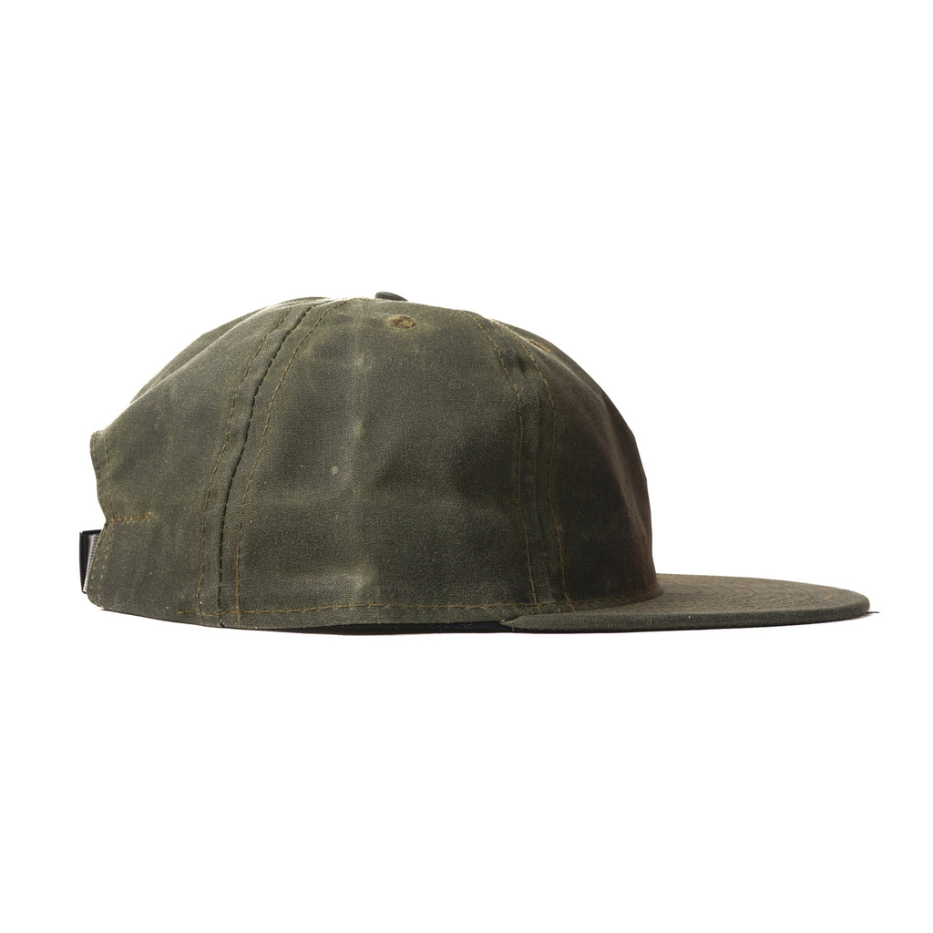 Olive Waxed Cotton Ball Cap