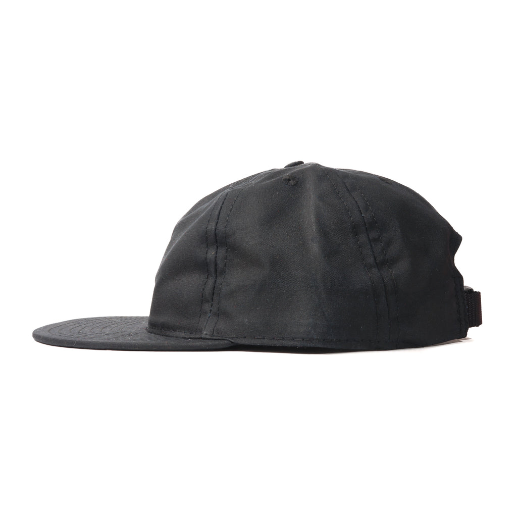 Black Waxed Cotton Ball Cap