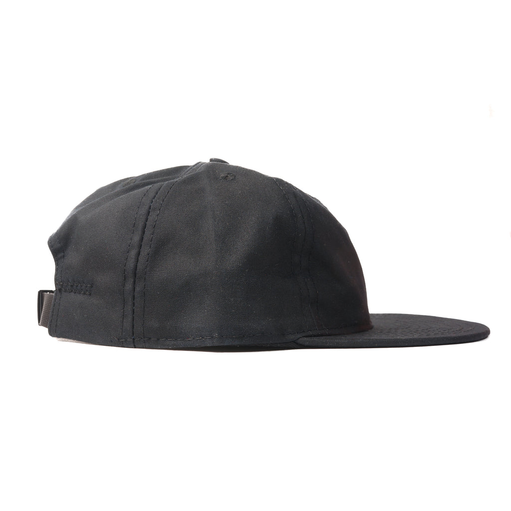 Black Waxed Cotton Ball Cap 624157b6e775