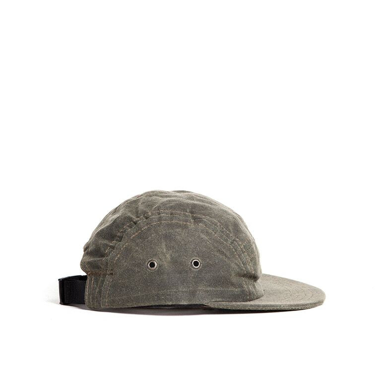 Olive Waxed Camp Cap Baby