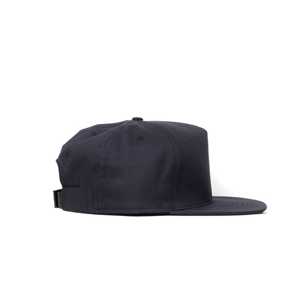 Black Cotton Twill Farm Cap