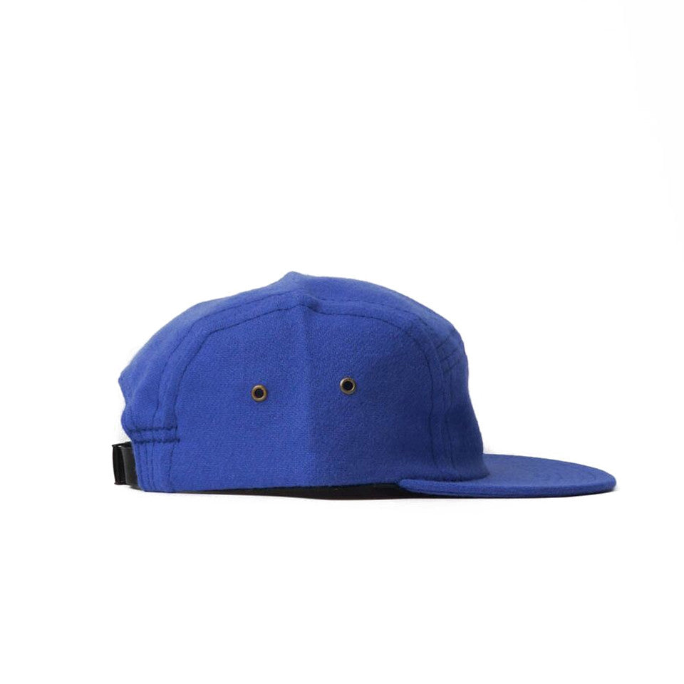 Violet Blue Flannel Camp Cap