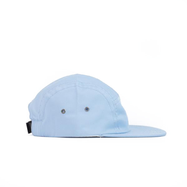 Light Blue Cotton Twill Camp Cap