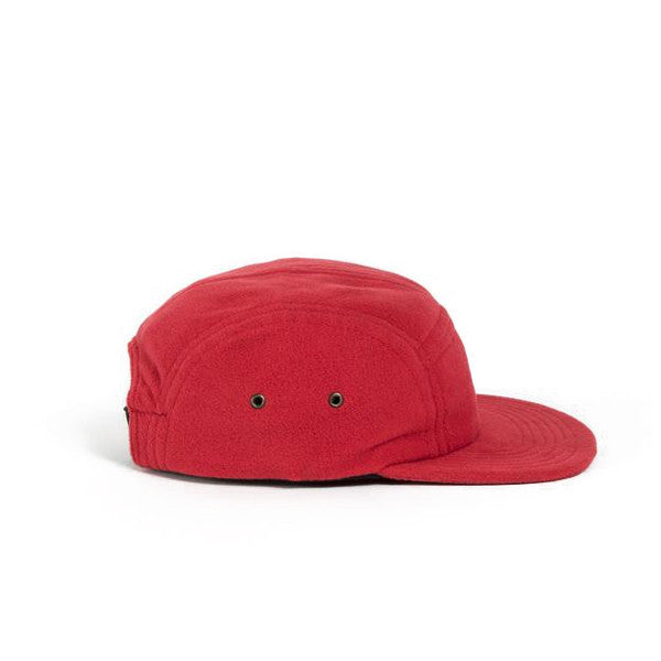 Red Polar Fleece Camp Cap