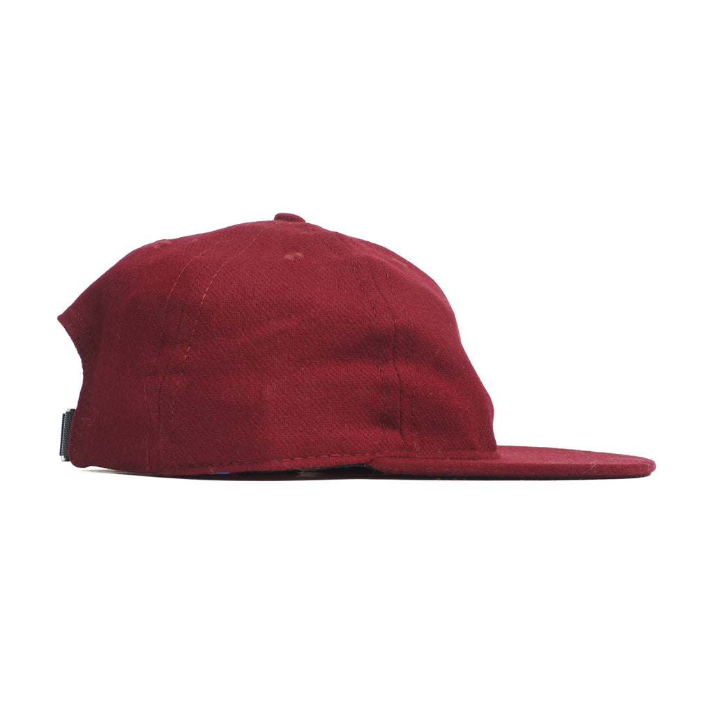 Burgundy Flannel Ball Cap