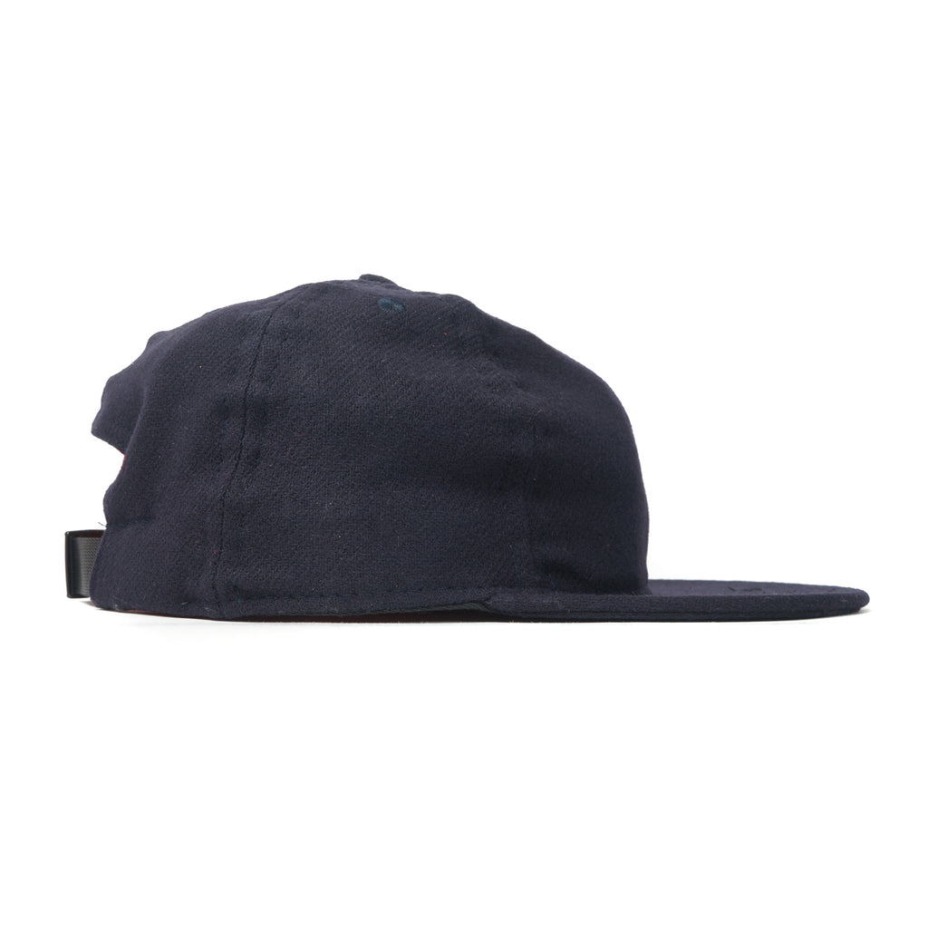 Navy Flannel Ball Cap