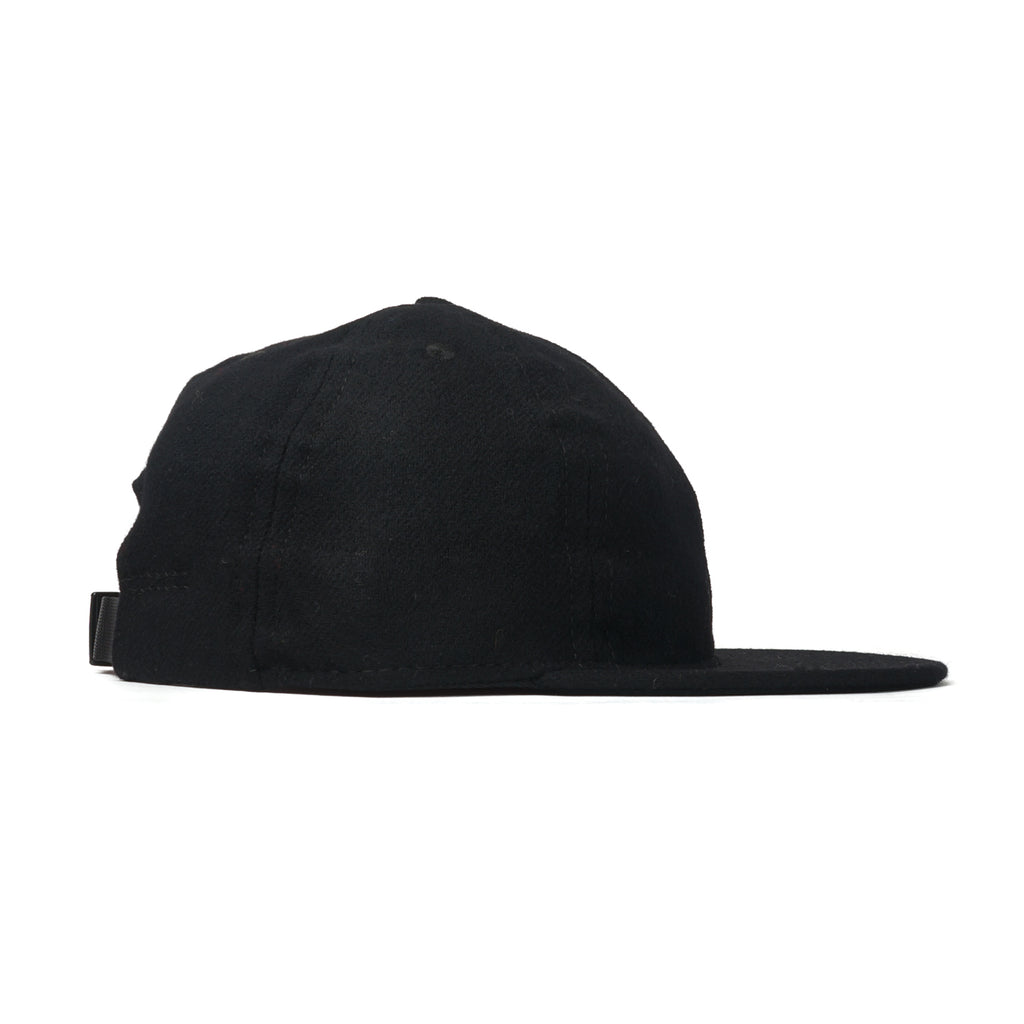 Black Flannel Ball Cap