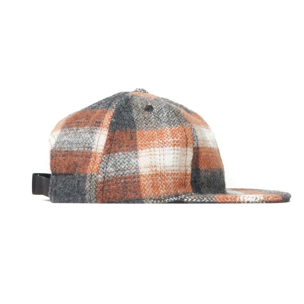 Rust and Grey Plaid Ball Cap
