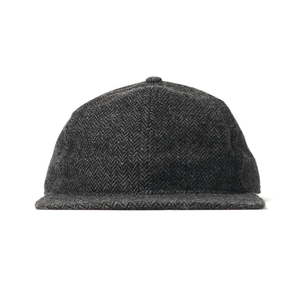 Charcoal Herringbone Tweed Ball Cap