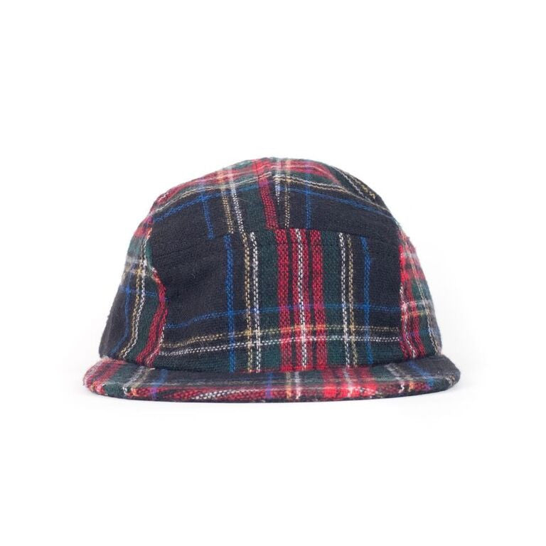 Black Stewart Plaid Camp Cap