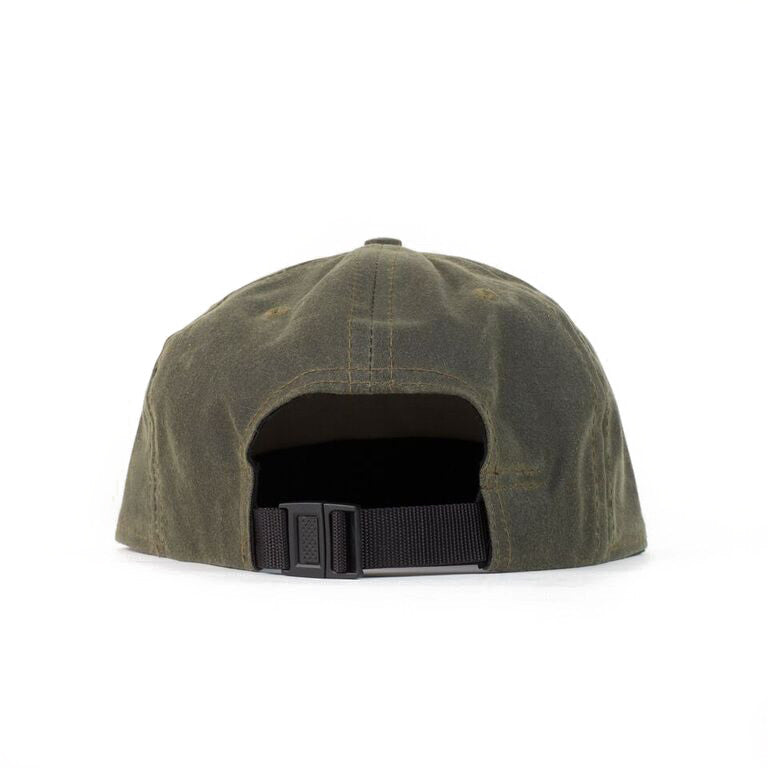 Olive Waxed Cotton Farm Cap