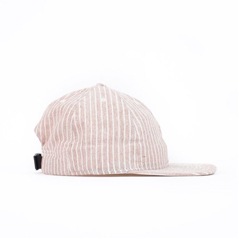 Red Hickory Stripe Ball Cap