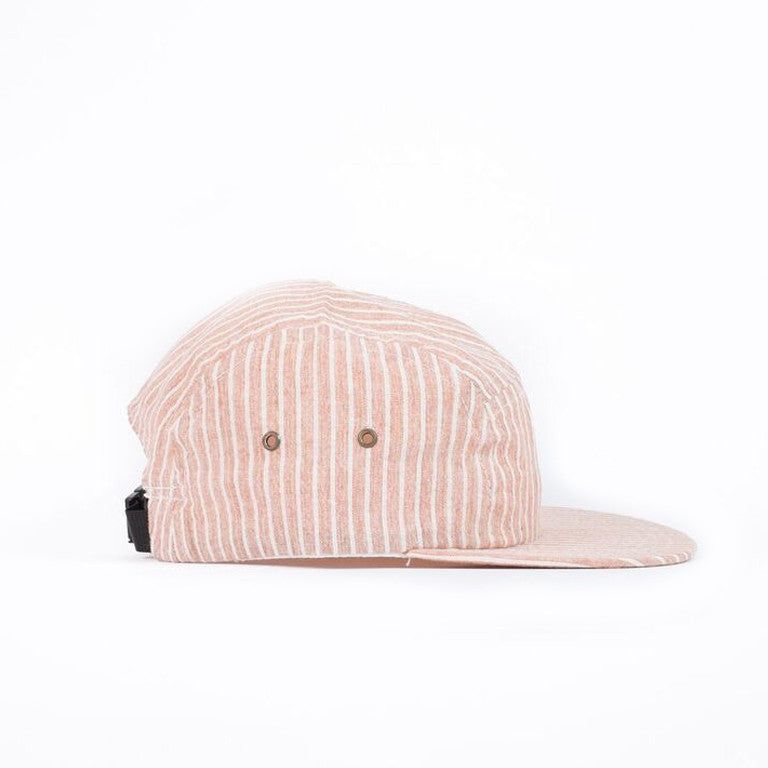 Rust Hickory Stripe Camp Cap