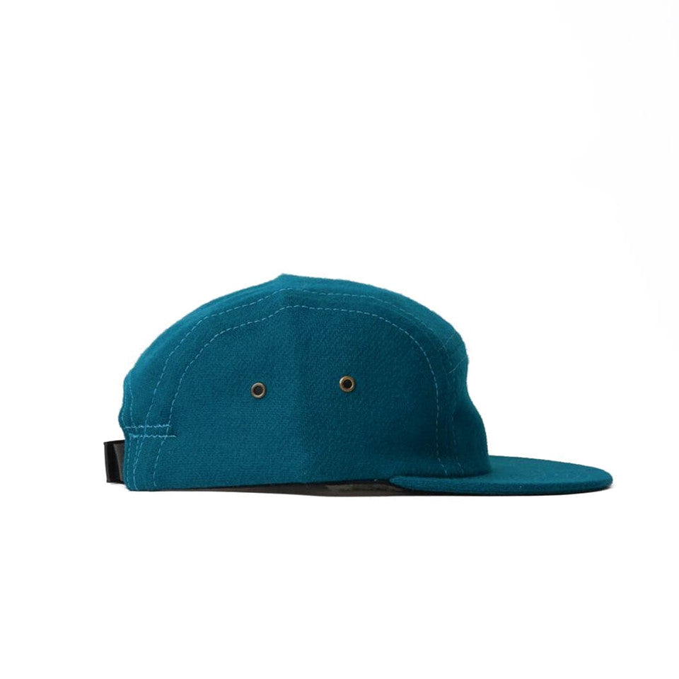 Teal Flannel Camp Cap
