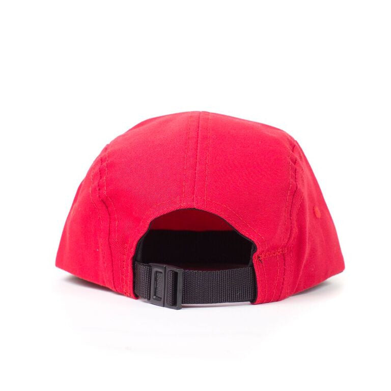 Red Cotton Twill Camp Cap