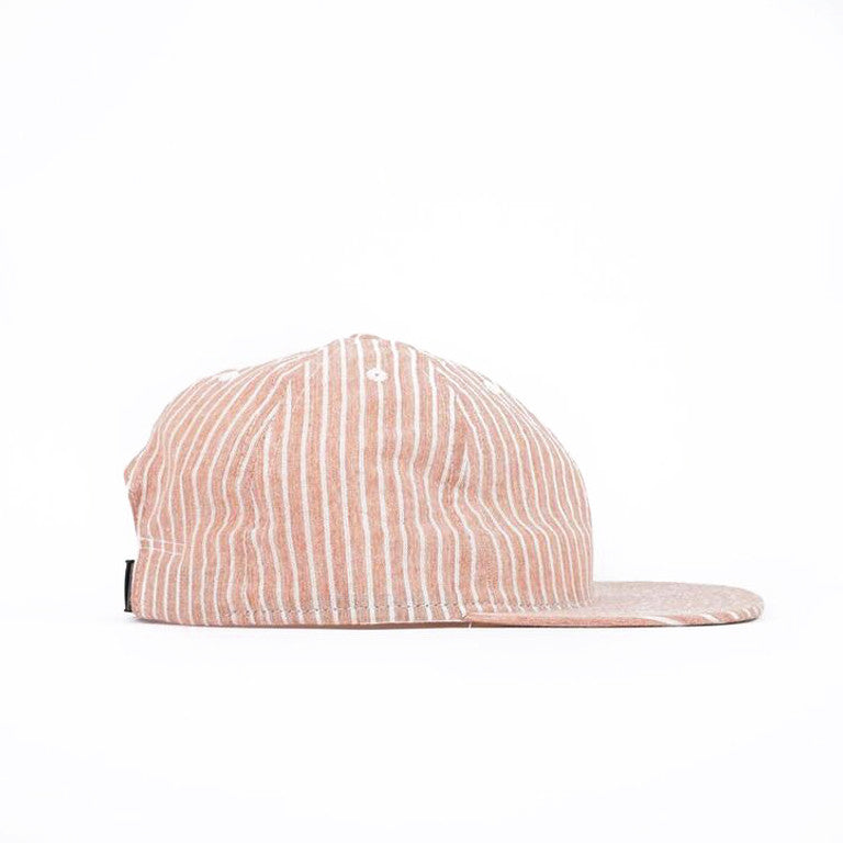 Rust Hickory Stripe Ball Cap