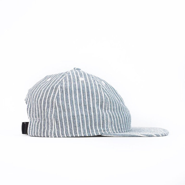 Blue Hickory Stripe Ball Cap