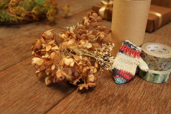 knit ornament kit with mini mitten & mini charm