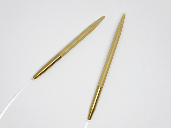 asymmetric circular needles 23cm/9.5 inch