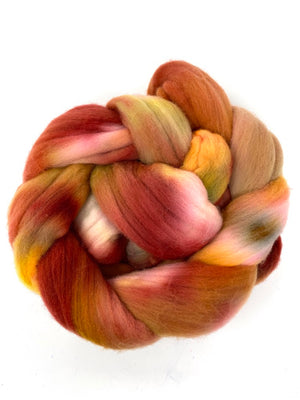 Rust Red Gold Rambouillet Spinning Fiber