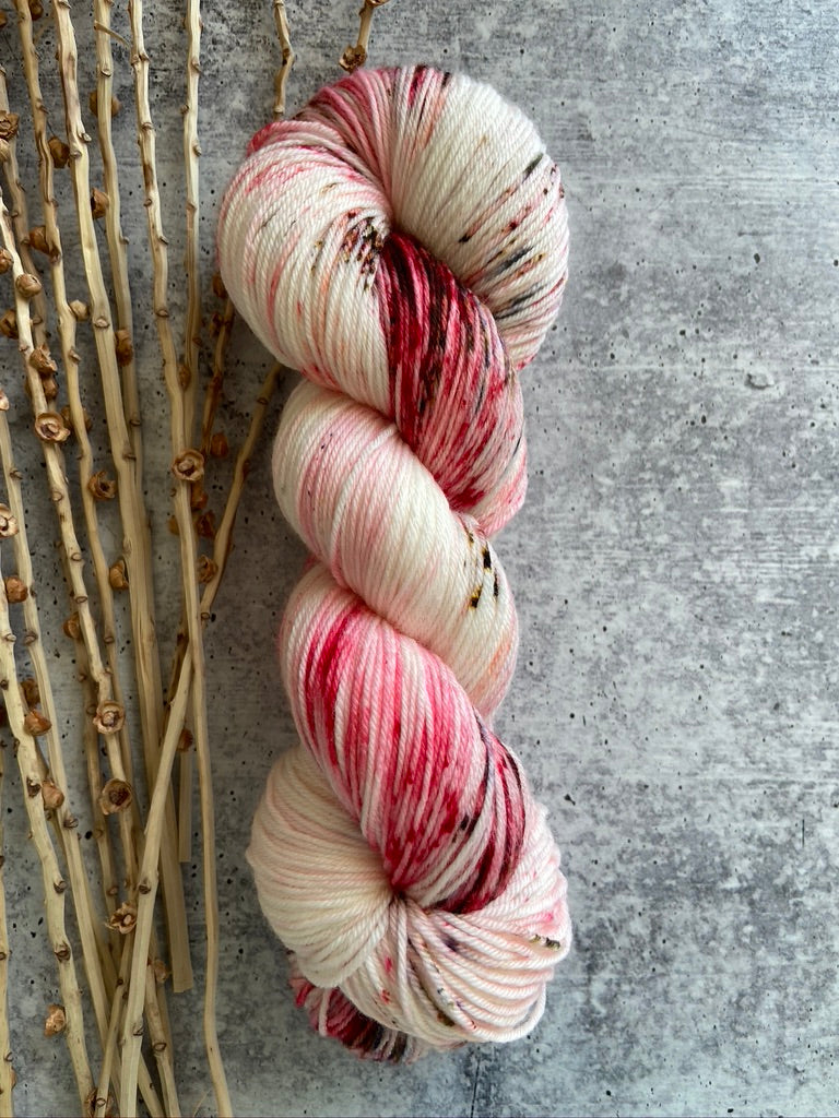 White Red Brown Speckled Yarn