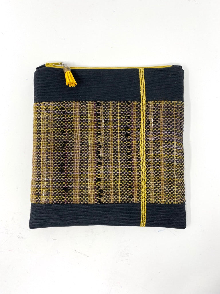 Black Gold Striped Accessory bag