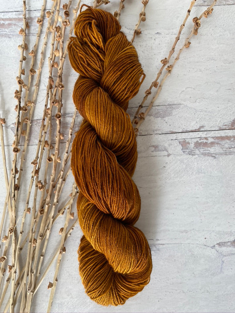 Toffee SW BFL Fingering Weight Yarn