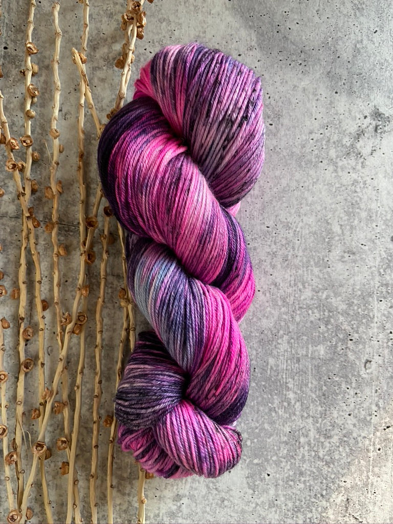 Purple Pink SW Merino Nylon Yarn
