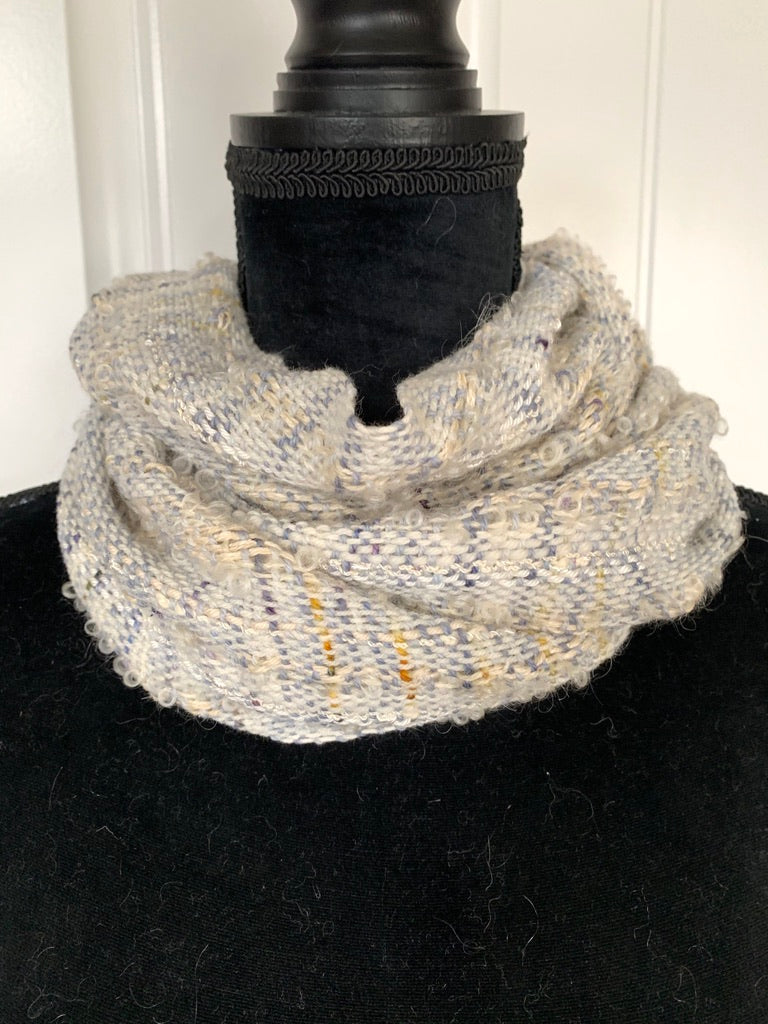 Light Blue Scarf With Flecks Of Blue